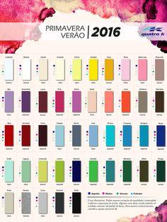 A cartela de cores da Quatro K Primavera – Verão 2016 já está disponível e…
