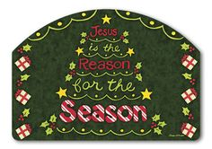 Magnet Works Yard DeSigns Yard Sign - Reason For The Season Design Address Plaqu