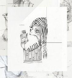 "60 Likes, 1 Comments - Eglė Uleckienė (@egleillustration) on Instagram: ""Daily Sketch Challenge*53-Vaidilutė. #illustrationartists #illustration #characterdesign #portrait…"""