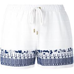 White cotton embroidery shorts from Michael Michael Kors. Size: S. Gender: Female.