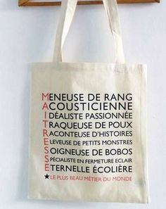 Gifts For Her - Gifts For Her Un tote bag pour ma maîtresse. Tote Bag Maitresse, Diy Cadeau Maitresse, Teacher Appreciation Gifts, Teacher Gifts, Presents For Her, Gifts For Her, Teacher End Of Year, Principal Gifts, Diy Tote Bag