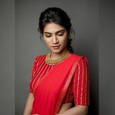 Wow attractive red, always unique Pattu Saree Blouse Designs, Stylish Blouse Design, Fancy Blouse Designs, Bridal Blouse Designs, Red Blouse Saree, Latest Saree Blouse Designs, Latest Blouse Patterns, Brocade Blouse Designs, Traditional Blouse Designs