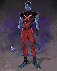Marvel Comic Character, Man Character, Marvel Characters, Marvel Dc, Marvel Heroes, Arte Dc Comics, Marvel Comics Art, Psylocke, Nightcrawler Marvel