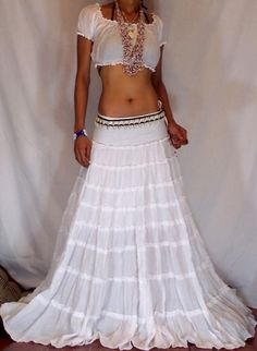 Image detail for -MissEthnic.com - PEASANT RUFFLE BOHO TIERE GYPSY HIPPIE SKIRT/DRESS