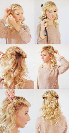 Loose halo hair tutorial   100 Layer Cake