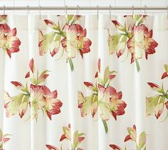 Amaryllis Organic Shower Curtain #potterybarn