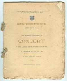 Programme for a Cambridge University Musical Society concert