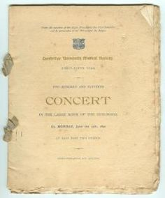 Programme for a Cambridge University Musical Society concert