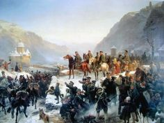 Field Marshal Blucher on the night of the new 1814 crosses the river Rhine near Kaub Wilhelm Camphausen