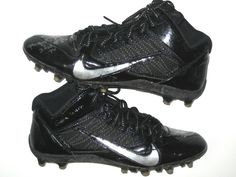 2bc07744210 Darrel Young Washington Redskins Game Worn & Signed Black & Silver Nike  Cleats – Worn in