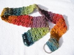 Crochet Rainbow Belt by CraftyColors on Etsy