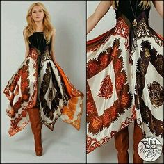 """Top 10 Styles"" Vintage Bohemian Scarf Gypsy Maxi Dress s Hippie Boho Print . - ""Top 10 Styles"" Vintage Bohemian Scarf Gypsy Maxi Dress s Hippie Boho Print Regal Festival Boho Gypsy, Hippie Boho, Estilo Hippie, Gypsy Style, Hippie Style, Bohemian Style, Boho Chic, Hippie Dresses, Boho Dress"