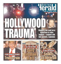 #20160224 #USA #Boston #MASSACHUSETTS #BostonHerald Wednesday FEB 24 2016 http://www.newseum.org/todaysfrontpages/?tfp_show=80&tfp_page=4&tfp_id=MA_BH