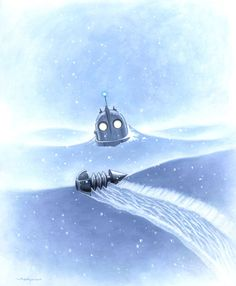 'Iron Giant: Winter' by Jason Edmiston. One day, all my parts will find their way home. Jason Edmiston, Animation Film, Disney Animation, The Iron Giant, Childhood Movies, Robot, Marvel, Movie Poster Art, Fanart