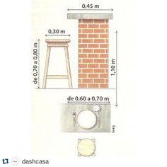 Ótima dica!  #Repost @dashcasa with @repostapp. ・・・ Quer um guia de medidas para balcões? Confira essa!