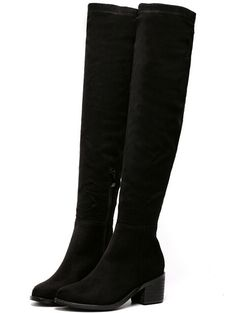 SheIn offers Black Chunky Heel Suede High Boots & more to fit your fashionable needs. heel boots thigh heel boots knee heel boots knee heel boots platform up high heel boots up high heel boots Black Heels Low, Black High Boots, Black Chunky Heels, Knee High Boots, Black Suede, Low Heel Boots, Heeled Boots, Bootie Boots, Winter Fashion Boots