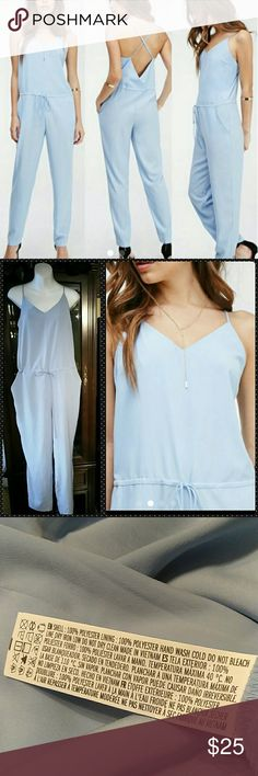 """WT Forever 21 Jumpsuit Super cute, super sexy! Adjustable back strap for the best fit. Drawstring waist. 28"""" inseam. 40"""" wide across the waist without the drawstring being pulled. Get it now; it won't last long!! Forever 21 Pants Jumpsuits & Rompers"""