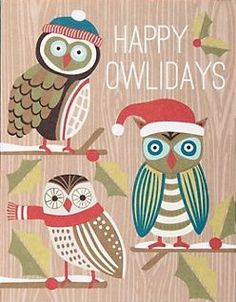 Happy Owlidays from Paper Source