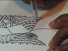 The Art of Zentangle - versatility of materials and surfaces this lady demonstrates... and her style.