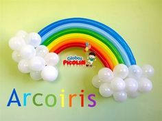 Como hacer un arcoiris con globos para decoraciones My little pony # 21…