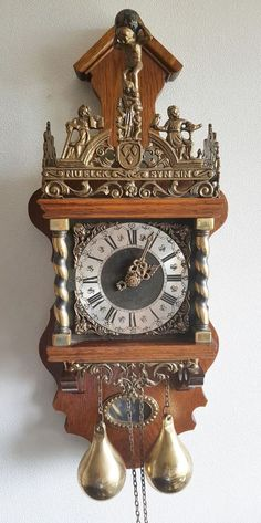 Vintage Dutch Zaandam Zaanse Wall Clock Clocks