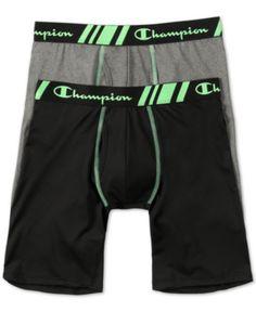 4ede930fb8 Champion Men s 2-Pk. Stretch Boxers - Black Charcoal Combo XL Boxers