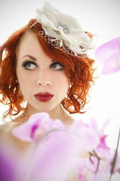 Stunning white flower with shimmering by EmeraldDiamond