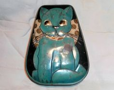 Cat Tins | ... Charles W Horner Toffee Tin Retro Embossed Cat Dainty Dinah ?