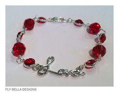 Swarovski LOVE Bracelet by FlyBellaDesigns on Etsy, $40.00