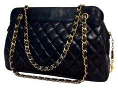 Chanel Lambskin Matelasse Chain Tote Shoulder Bag $1,299