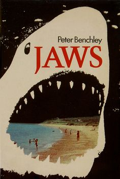 JAWS - UK First Edition 1974 Peter Benchley published by Andre Deutsch London Book Cover Art, Book Cover Design, Book Art, Pet Sematary, Vintage Book Covers, Vintage Books, Peter Benchley, Horror Fiction, Buch Design