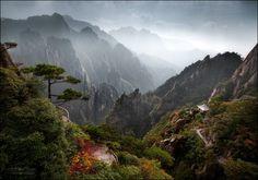 Горы цепь Хуаншань, Китай. Автор фото: Михаил Воробьев.