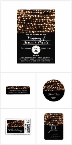 Amber Glow String Lights Rustic Wedding Collection
