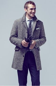 Nordstrom Fall 2014 Men's Catalogue: Armando Cabral, Clément Chabernaud & More Model Latest Styles Mens Catalogue, Fashion Catalogue, Tweed Overcoat, Billy Reid, Look Cool, Well Dressed, Timeless Fashion, Men Dress, Suit Jacket