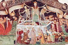 Triumph of Death - Clusone - Italy - Fresco from Oratorio dei Disciplini Rockwell Kent, Norman Rockwell, Dance Of Death, Danse Macabre, Macabre Art, Memento Mori, Tempera, Fresco, Jacques Le Goff