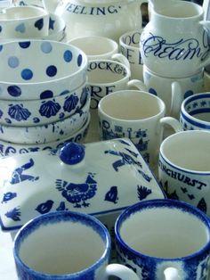 Emma Bridgewater Blue Collection (servies komt uit Engeland maar ook in NL te koop. Lisette)