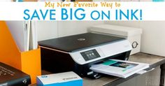 My New Favorite Way to Save Big on Ink! I'm so excited to tell you about this awesome way to save on ink guys!! Save up to 50% on printer ink! I feel like I'm printing stuff every other day – usually coloring pages for kids or recipes that I want to try. Of course, there are plenty of other little print jobs that happen each month too with my business, church, kids' school work, etc. It is safe to say that we use up printer ink and have to buy it regularly.