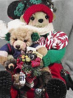 Apple Whimsey HTF Slip Slidin Limited Edition Cindy Teyro Bear Hedgehog Sled (11/18/2014)