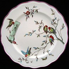 OUTSTANDING Aesthetic Movement Plate ~ 1875