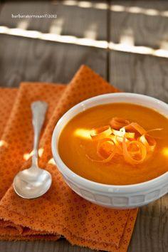 zuppa di carote, zenzero e limone
