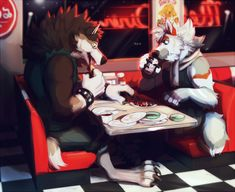 [YCH] Werewolf Dine In - by Jubilations