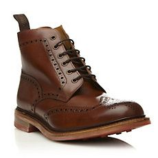 Loake WHARFDALE - Leather Brogue Ankle Boot