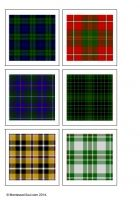 Free printable for matching game using different Tartans