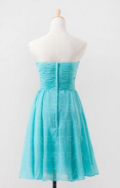 Bridesmaid dress/strapless/sheath column/sweetheart by Dressfan, $66.00