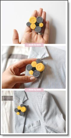 {DIY Crafts} A step-by-step tutorial on how to make your very own funky brooch out of felt! Felt Roses, Felt Flowers, Fabric Flowers, Craft Stick Crafts, Felt Crafts, Diy Crafts, Felt Glue, Felt Fish, Felt Brooch