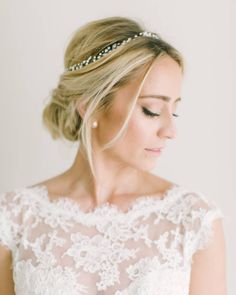 "2,525 Likes, 21 Comments - Style Me Pretty (@stylemepretty) on Instagram: ""The perfect bridal hair and makeup is all about accentuating your natural beauty, which is why we…"""