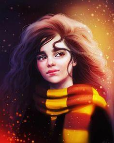 My faveeeeeee fanart of Hermione so far 😍😍Credits to Sandramalie Magia Harry Potter, Classe Harry Potter, Cute Harry Potter, Mundo Harry Potter, Harry Potter Artwork, Harry Potter Drawings, Harry James Potter, Harry Potter Wallpaper, Harry Potter Universal