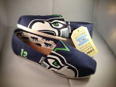 Seahawks TOMs Shoes by AianasArt on Etsy