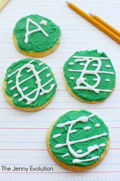 ABC Letter Handwriting Cookies Recipe and Tutorial. Perfect for school and teacher gifts!