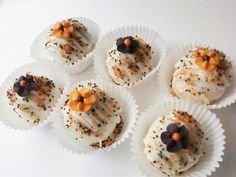 Halloween Sparkling Flower Cake Drops 6 pack, $10
